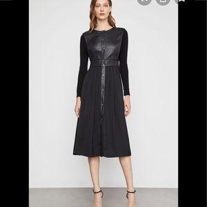 BCBG Faux leather vest dress